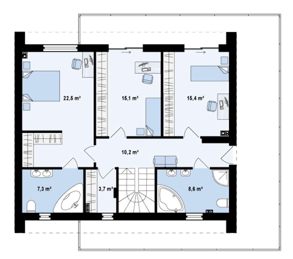2 этажные дома фото схемы