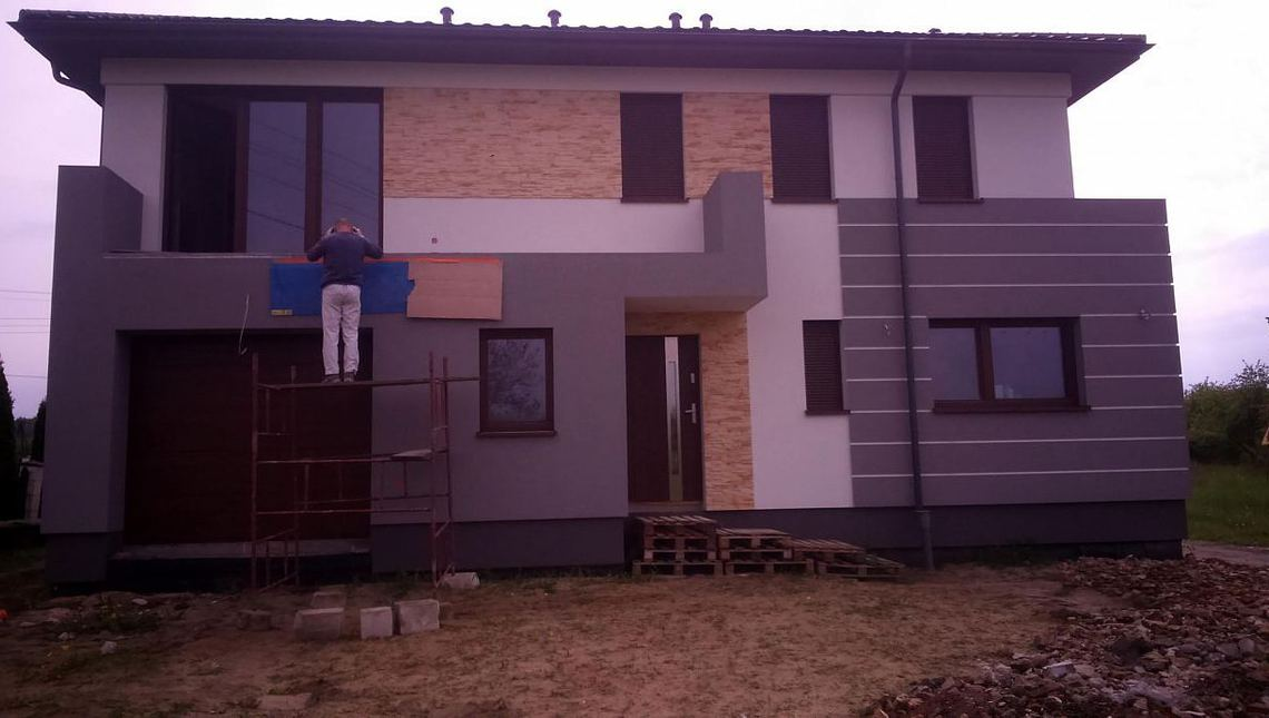 Привлекательный проект современного двухэтажного коттеджа