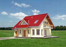 Дом более 150 m² с угловым эркером