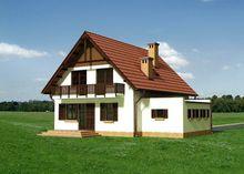 Двухэтажный коттедж с просторной столовой — кухней
