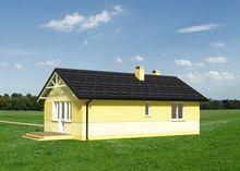 Одноэтажный дачный дом для небольшого участка