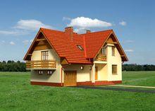 Проект симпатичного особняка на 248 кв. м со встроенным гаражным помещением