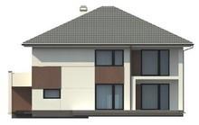 Проект двухэтажного коттеджа с современными элементами