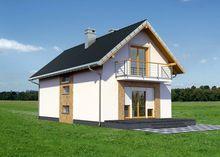 Небольшой загородный дом с площадью 125 m²