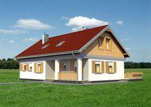Проект загородного дома небольшого размера с верандой