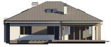 Проект коттеджа с тремя спальнями и фронтальным гаражом