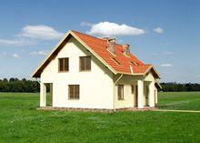 Простой и просторный загородный дом с площадью 170 m²