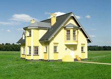 Неповторимый загородный дом с эркерами