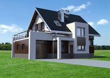 Проект оригинального загородного поместья с площадью 151 m²