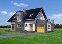 Проект стильного коттеджа с площадью 160 m²