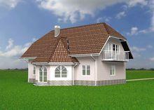 Архитектурный проект стильного особняка с роскошным балконом