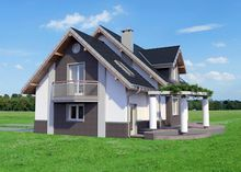 Архитектурный проект современного дома с шестью спальнями
