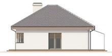 Проект одноэтажного дома с гаражом для двух авто и хозяйственным помещением