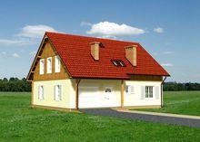 Привлекательный проект дома более 200 m² с мансардой и гаражом на 1 машину