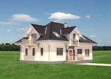 Уютный проект светлого мансардного дома