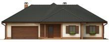 Проект просторного одноэтажного дома с гаражом для двух машин