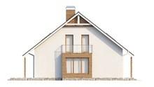 Проект красивого дома с мансардой над гаражом