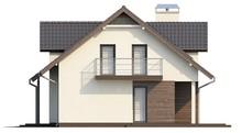 Проект коттеджа с гаражом, мансардой и хозяйственным помещением