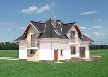 План роскошного двухэтажного дома с гаражом