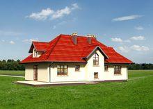Проект жилого двухэтажного дома необычной планировки