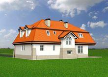 Роскошный двухэтажный особняк необычной планировки