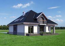 Элегантный загородный дом с мансардой