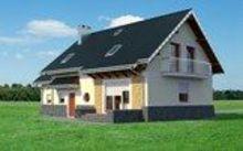 Проект имения с мансардой для узкого участка с габаритами 9 на 15