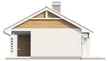 Проект небольшого одноэтажного дома с угловым окном кухни