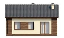 Проект одноэтажного экономичного дома с двускатной кровлей