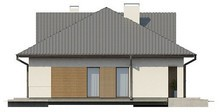 Проект одноэтажного дома с оригинальным фасадом и четырехскатной крышей
