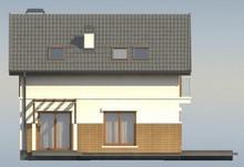 Проект дома с мансардой, дополнительной комнатой на первом этаже