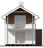 Проект двухэтажного небольшого коттеджа для узкого участка