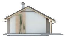 Проект простого недорогого одноэтажного коттеджа