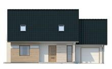 Проект дома с гаражом на одну машину