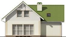 Проект одноэтажного коттеджа с мансардой, гаражом и зеленой крышей