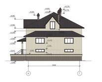 Проект двухэтажного особняка с шикарной террасой