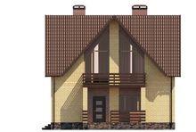 Интересный план двухэтажного коттеджа с гаражом