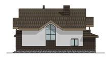 Проект дома с мансардой площадью 225 кв.м