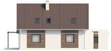 Проект дома с боковой террасой и гостиной