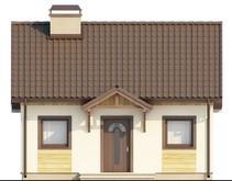 Проект небольшого коттеджа с крытой террасой