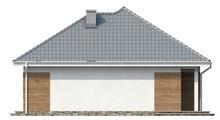 Проект одноэтажного коттеджа с крытой террасой