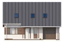 Проект аккуратного дома со встроенным гаражом для одной машины