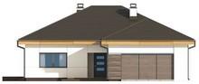Проект одноэтажного коттеджа со сдвоенным фронтальным гаражом