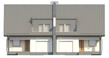 Проект дома на две семьи с гаражом
