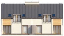 Проект недорогого дома на две семьи