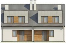 Проект двухэтажного модернового коттеджа на 2-е семьи с раздельными входами