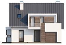 Проект дома хай тек с гаражом