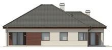 Проект одноэтажного дома с угловой террасой
