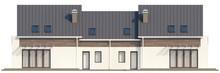 Проект просторного коттеджа на 2 семьи с боковым гаражом