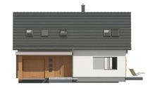 Проект небольшого коттеджа с мансардой и гаражом